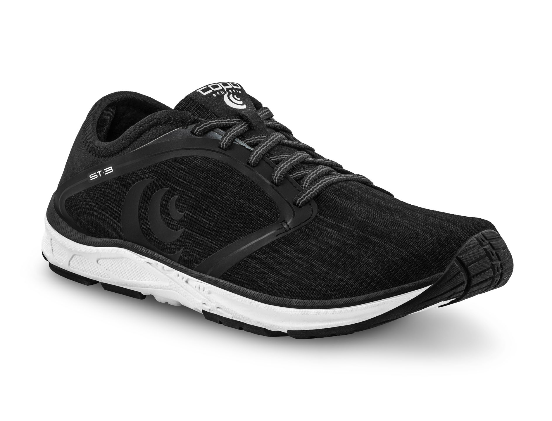 Size 10.5 Topo Athletic Mens ST-3 Road Running Shoes Black//Grey
