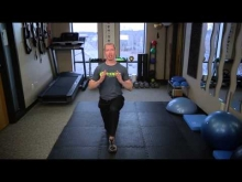 In-Line Lunge with Rotation