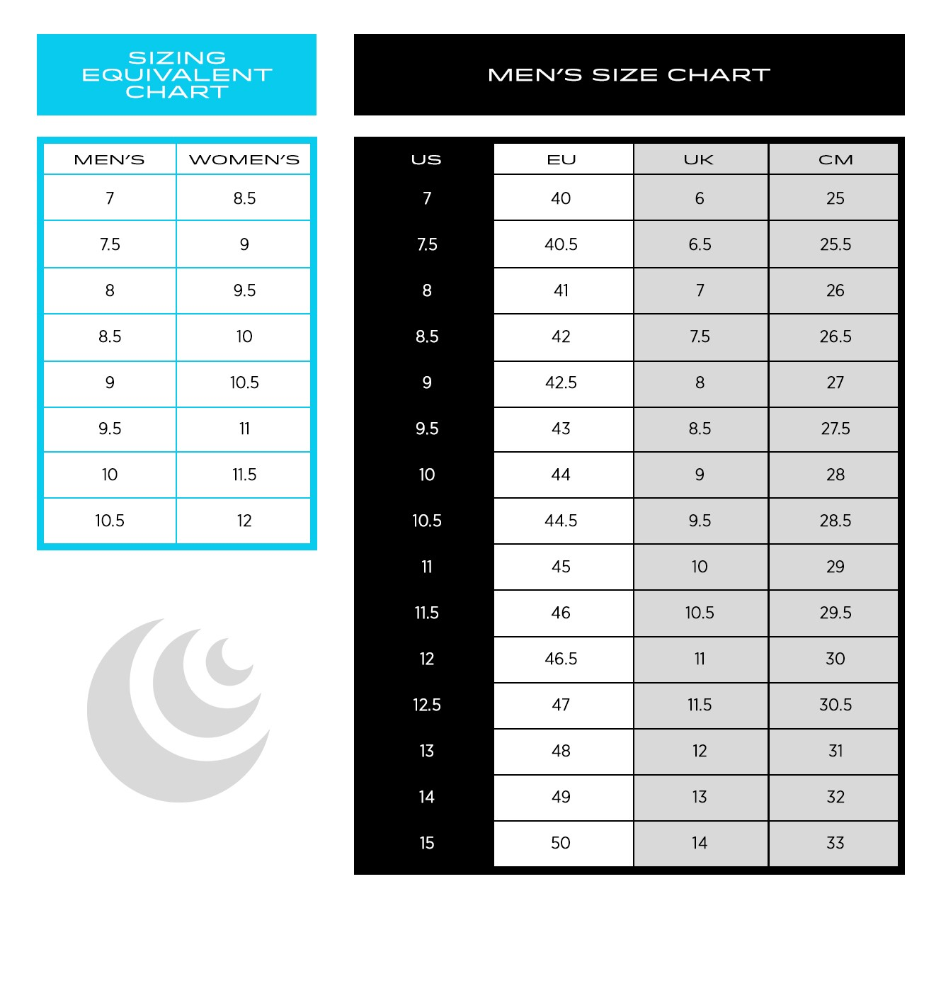 Topo Athletic Men's Size Chart