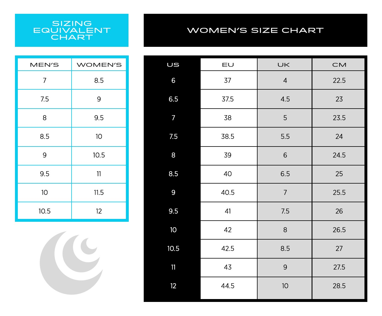 Topo Athletic Women's Size Chart